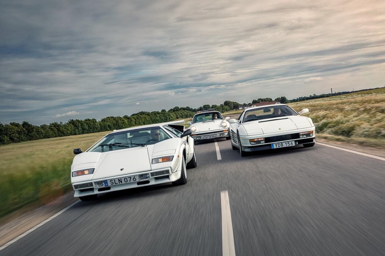 80s Supercar Shootout Lamborghini Countach Vs Porsche 911 Turbo Vs Ferrari Testarossa Classic Sports Car