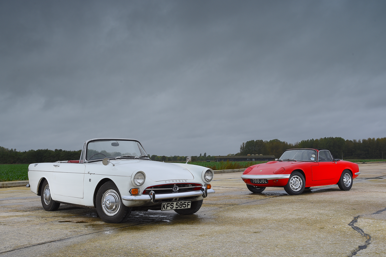 Sunbeam Tiger vs Lotus Elan