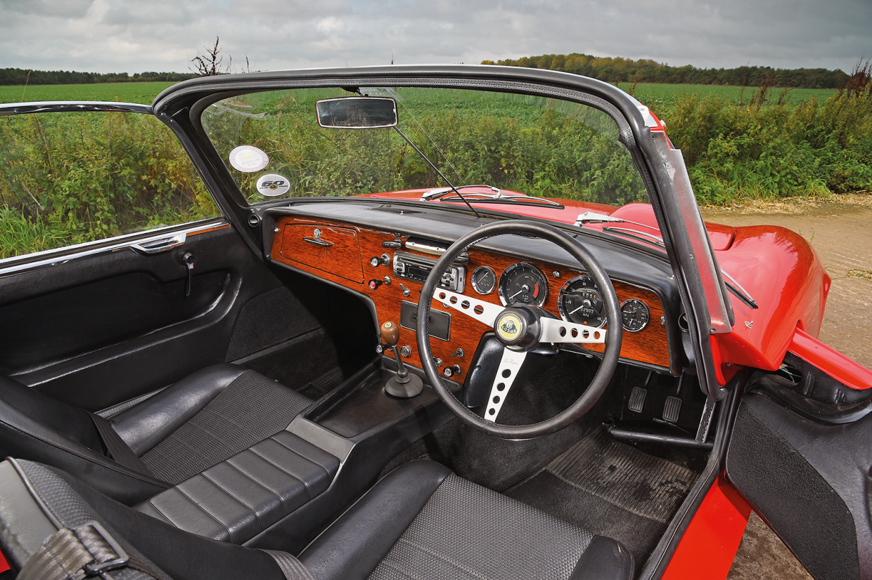 The Lotus Elan's cabin is more luxurious than you might expect
