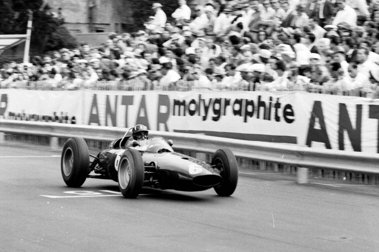 Graham Hill (BRM P57) en route to victory in Monaco, when the 1963 F1 season started in May