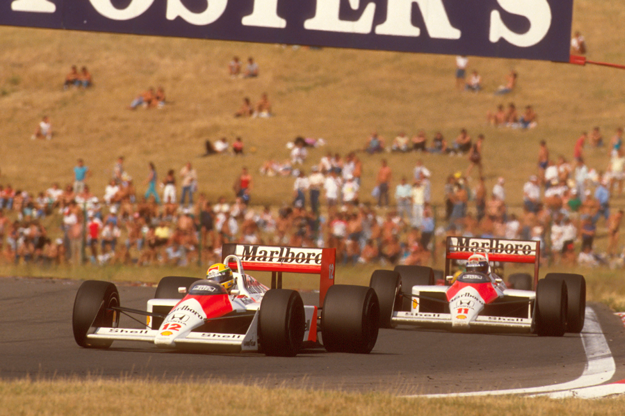 Being late to the party didn't hurt McLaren in 1988 – here, Senna and Prost score a 1-2 at the Hungaroring