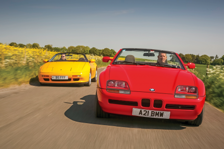 Lotus Elan M100 vs BMW Z1