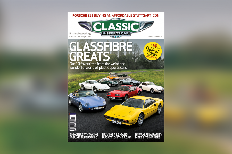 Classic & Sports Car – Glassfibre greats: Inside the January 2020 issue of C&SC