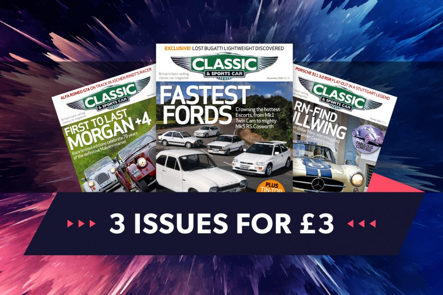 Classic & Sports Car – Get 3 issues of C&SC for just £3 this January